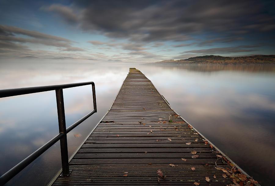 Loch Lomond Photograph - Loch Lomond Jetty by Grant Glendinning