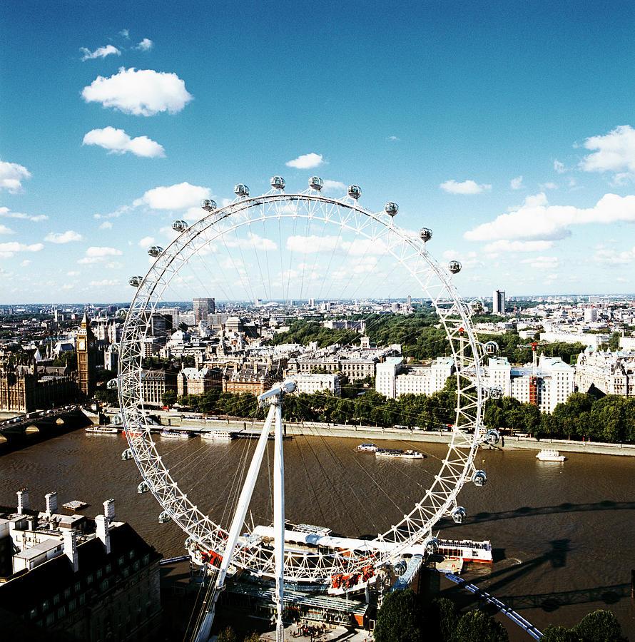 London Eye Photograph - London Eye by Mark Thomas/science Photo Library