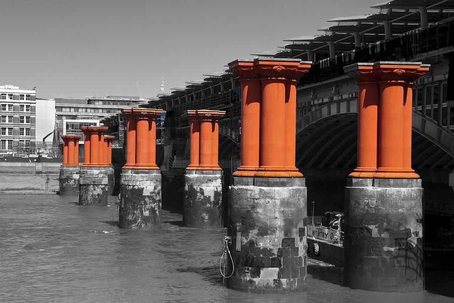 London Photograph - London Thames Bridges by David French