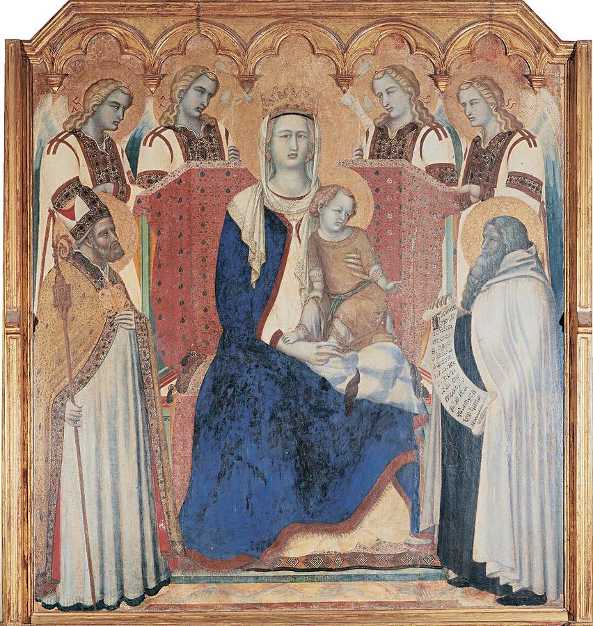 Altarpiece Photograph - Lorenzetti Pietro, Carmine Altarpiece by Everett