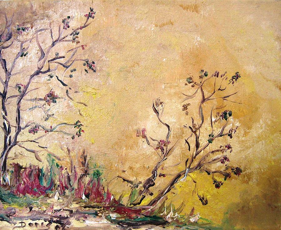 Landscape Paintings Painting - Los Horgolitos 1 by Doris Cohen