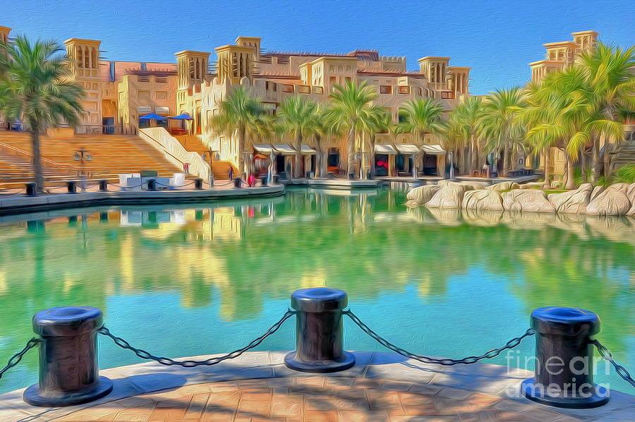Cityscape Photograph - Madinat Jumeirah Souk - Dubai by George Paris