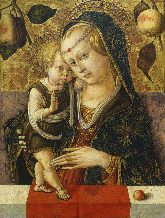 Mary Painting - Madonna And Child by Carlo Crivelli