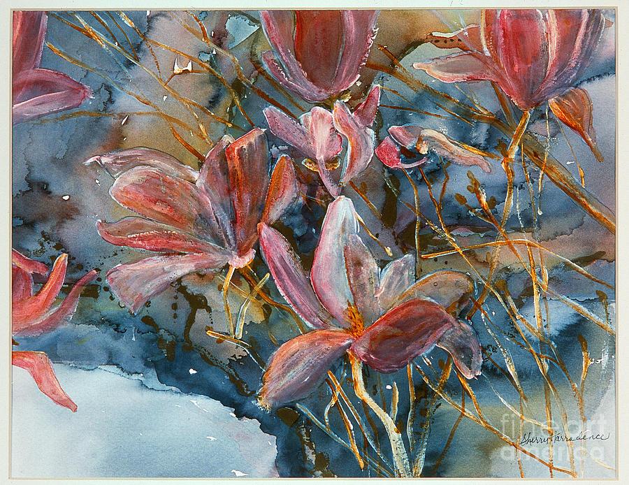 Magnolias Painting - Magnolias  by Sherry Harradence