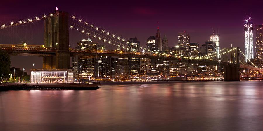 New York Photograph - Manhattan By Night by Melanie Viola