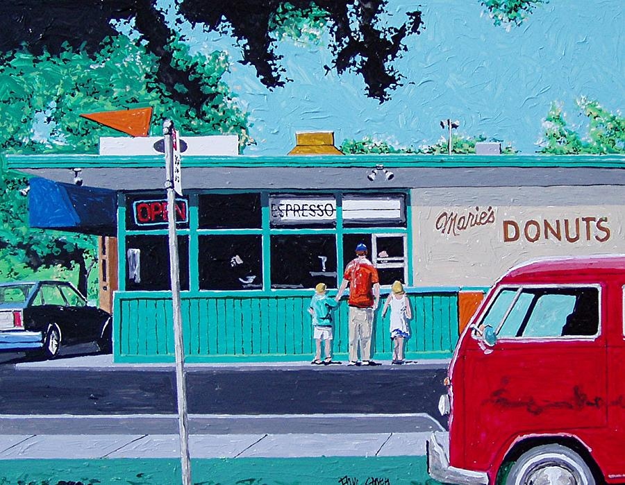 Sacramento Painting - Maries Donuts by Paul Guyer