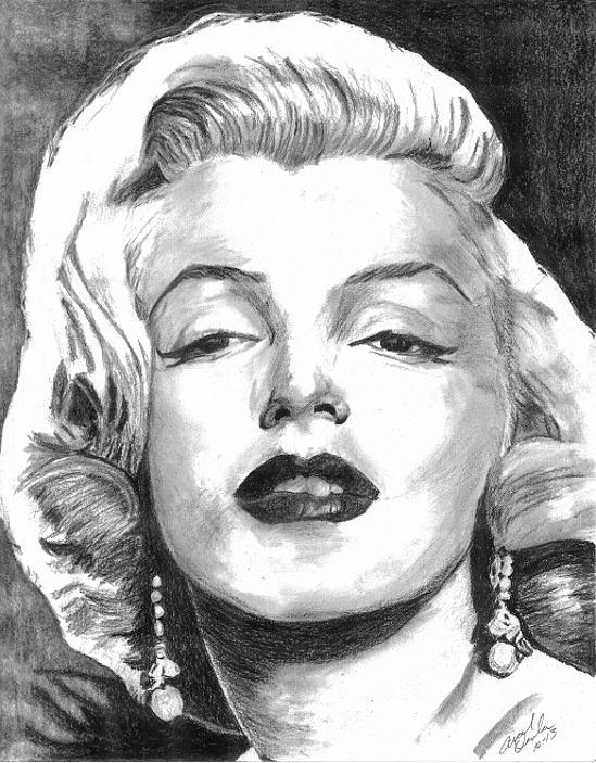 Marilyn Drawing - Marilyn by Ariel Davila