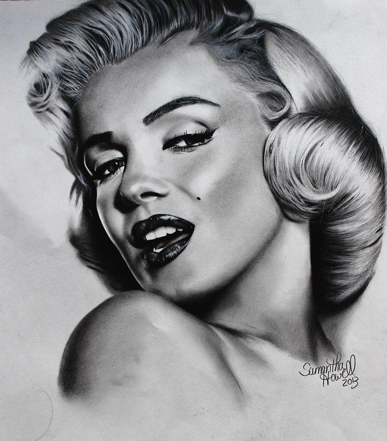 Marilyn Monroe Drawing By Samantha Howell