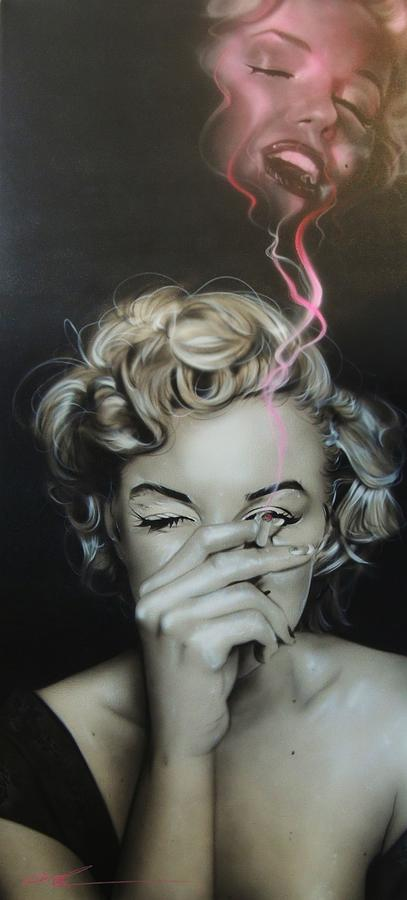 Marilyn 39 s crimson haze painting by christian chapman art - Haze her shower ...