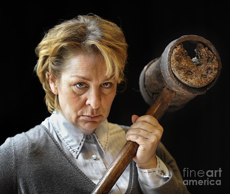 Misery Photograph - Marjolein As Annie Wilkes by Michel Verhoef