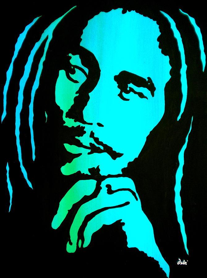 Bob Marley Painting - Marley by Debi Starr