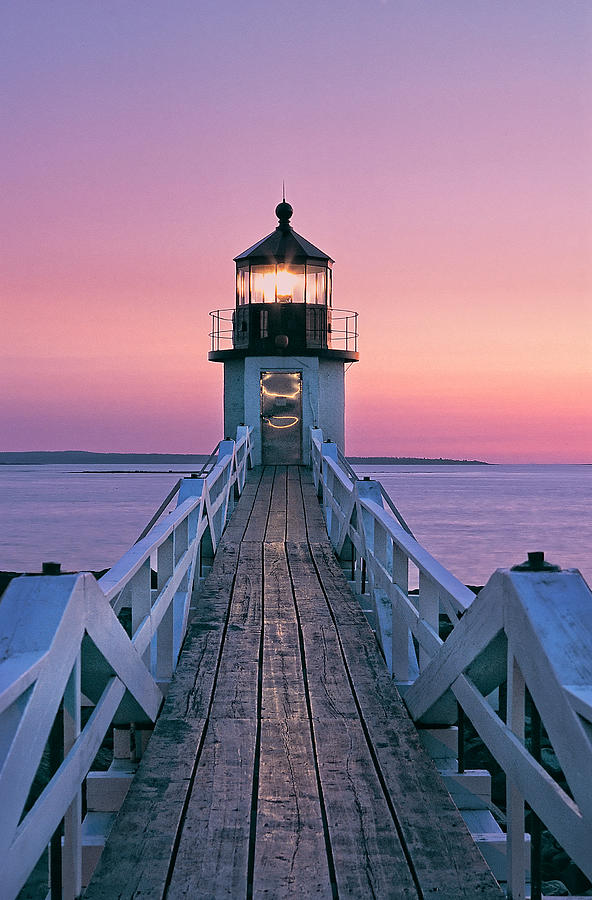 Lighthouse Photograph - Marshall Point Lighthouse in Maine by William Britten