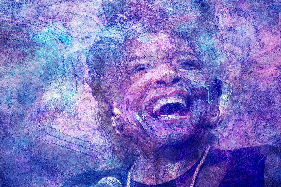 Maya Angelou Digital Art - Maya Angelou by D Walton