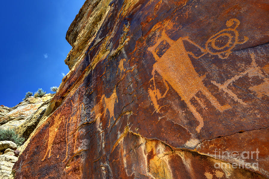 Vernal Photograph - Mckee Springs Petroglyph - Utah by Gary Whitton