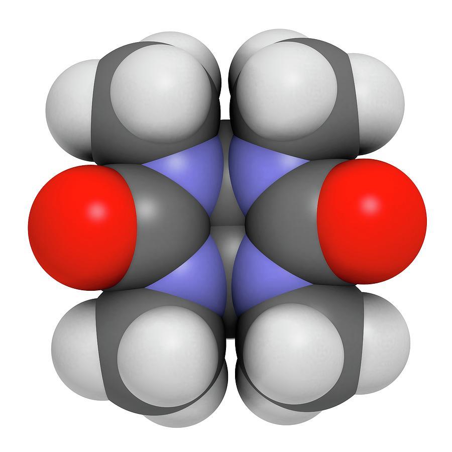 Artwork Photograph - Mebicar Anxiolytic Drug Molecule by Molekuul
