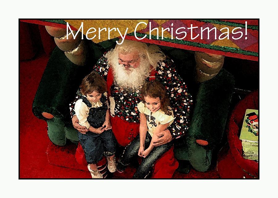 Merry Christmas With Santa Photograph