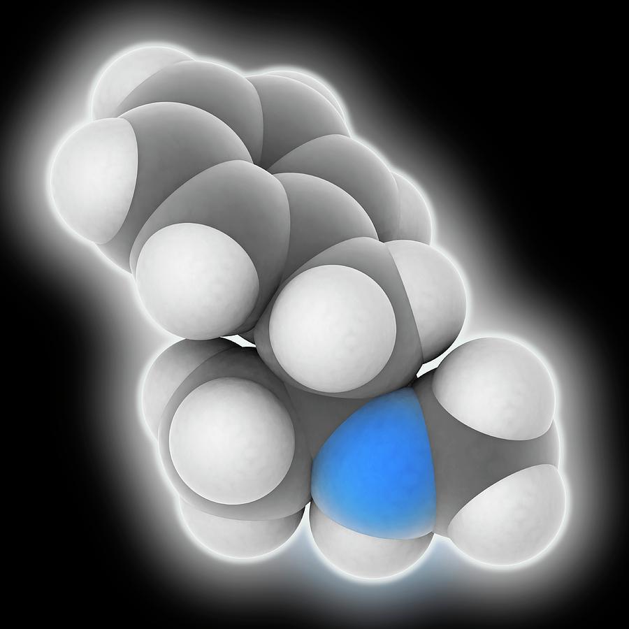 Amphetamine Photograph - Methamphetamine Drug Molecule by Laguna Design