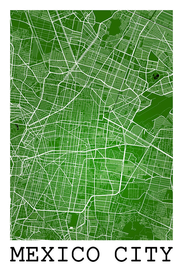 road map digital art mexico city street map mexico city mexico road map art