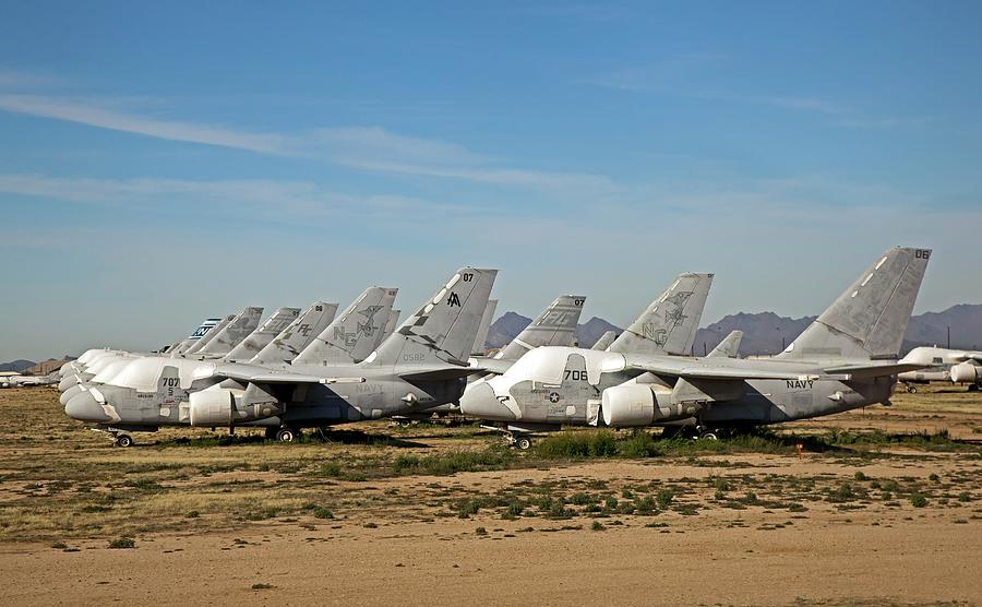 Vehicle Photograph - Military Aircraft In Salvage Yard by Jim West