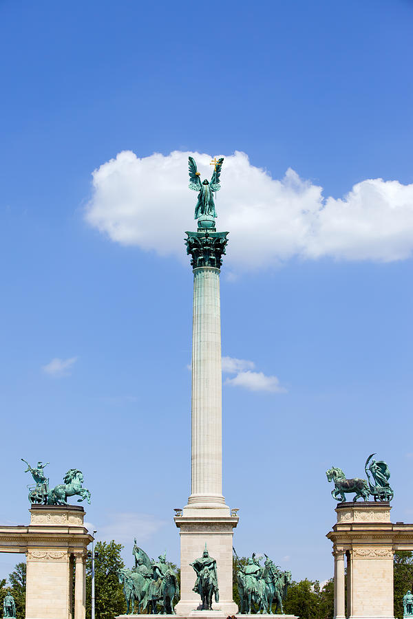 Archangel Photograph - Millennium Monument In Budapest by Artur Bogacki