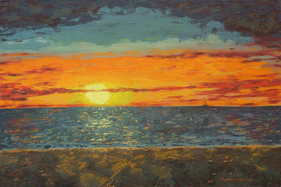 Mindil Beach Sunset Painting By Alex Mortensen