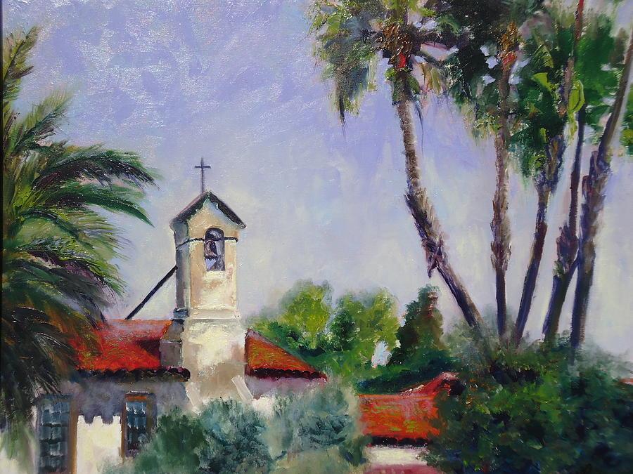 Plein Air Painting - Mission San Juan Capistrano by Luz Perez