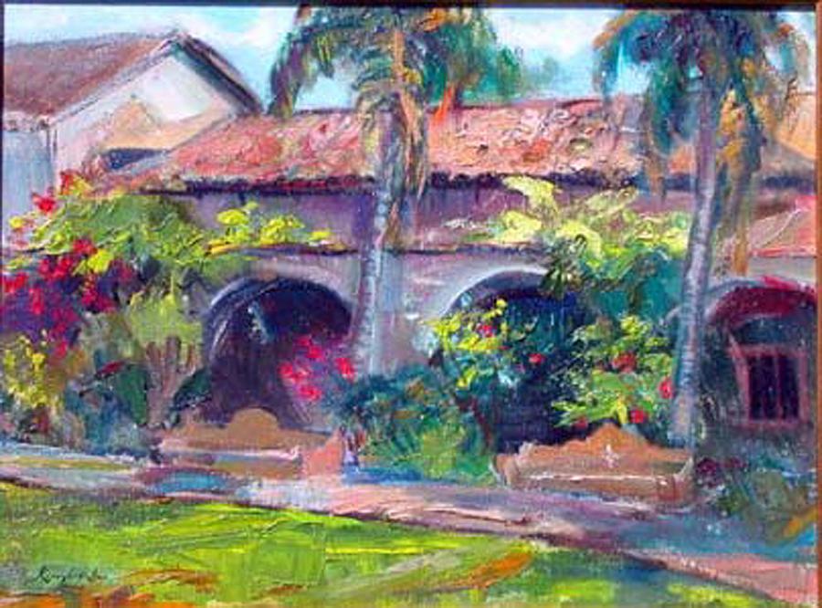 Mission San Juan Capistrano Painting by Renuka Pillai