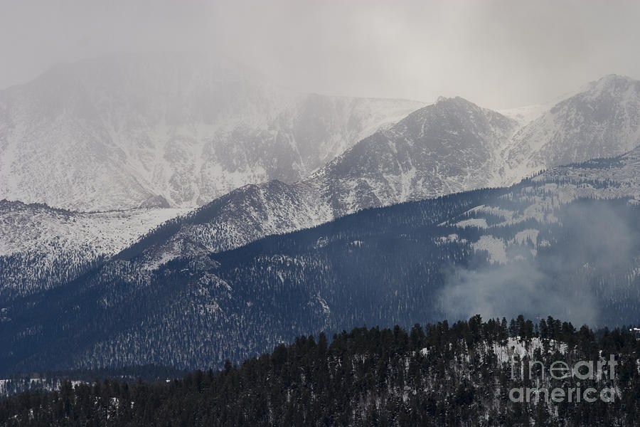 Misty Pikes Peak Photograph