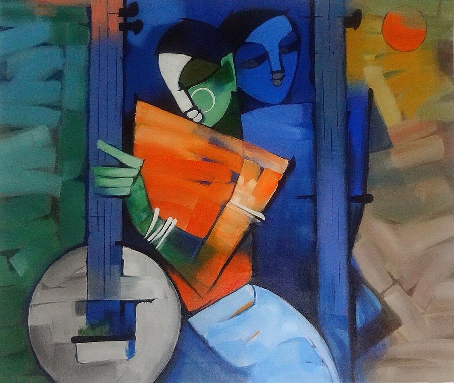 Krishna Modern Art Painting by Sheetal Bhonsle