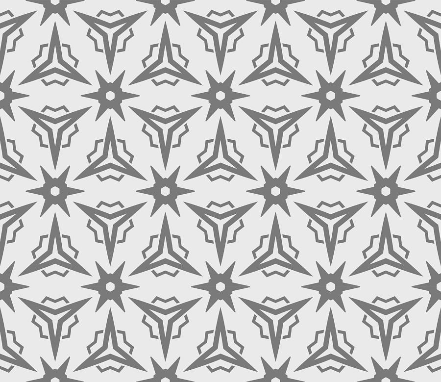 Modern Seamless Geometric Ornament Vector Illustration Line Art Design For Print Wallpaper Backgorund