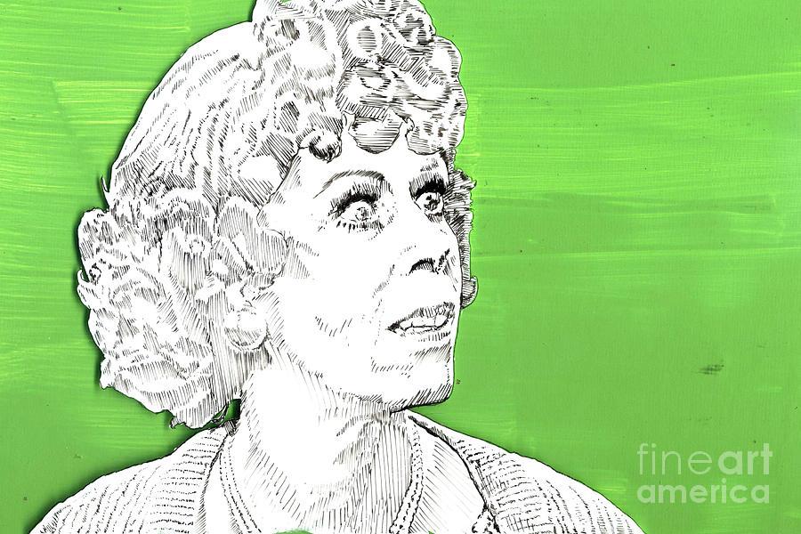Carol Mixed Media - Momma On Green by Jason Tricktop Matthews