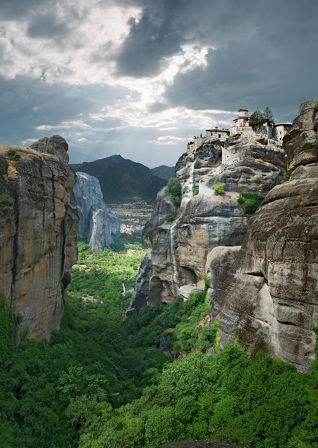 Monastery In The Meteora, Greece Photograph by Ed Freeman