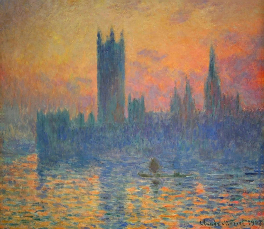 The Houses Of Parliament Photograph - Monets The Houses Of Parliament At Sunset by Cora Wandel