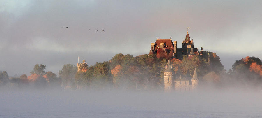 Boldt Castle Photograph - Morning Has Broken by Lori Deiter