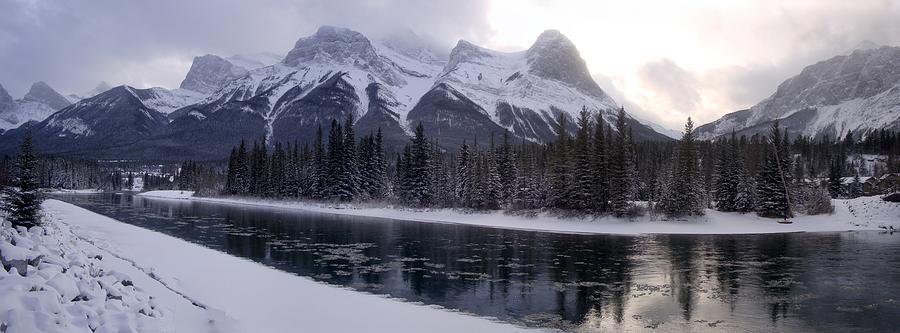 Mountain Sunset Canmore Christmas - Alberta, Canada Photograph