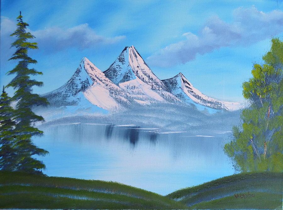 Landscape Painting - Mountain Landscape by Varsha Patel