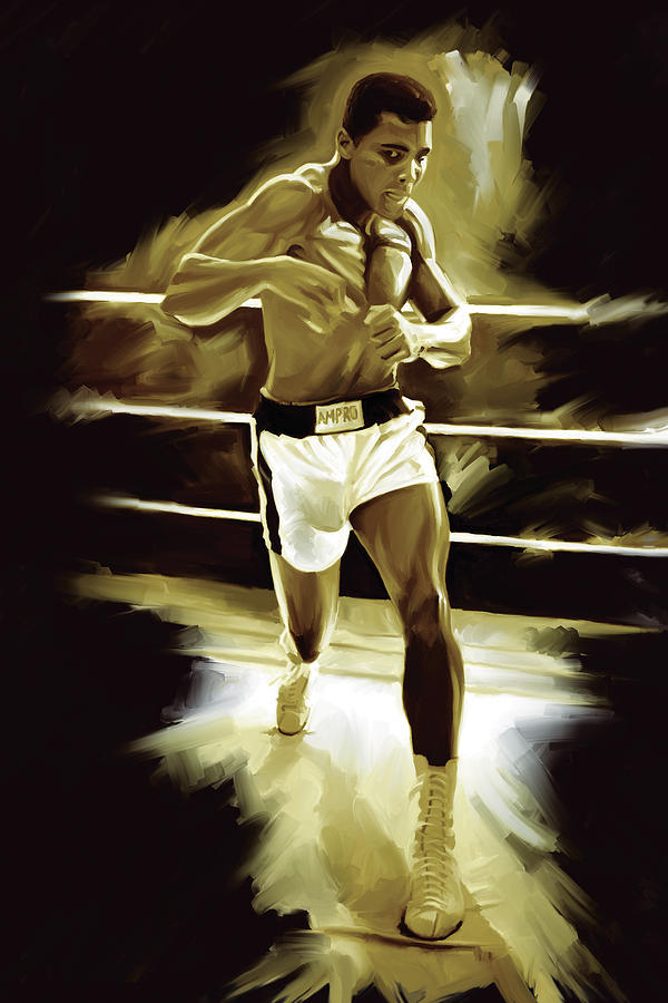 Boxing Poster Painting - Muhammad Ali Boxing Artwork by Sheraz A