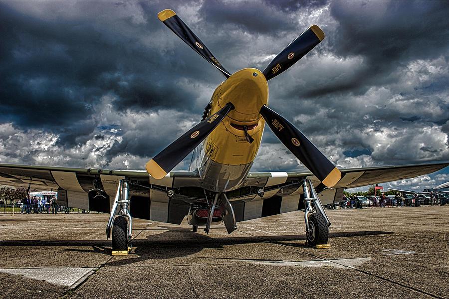 Duxford Photograph - Mustang by Martin Newman