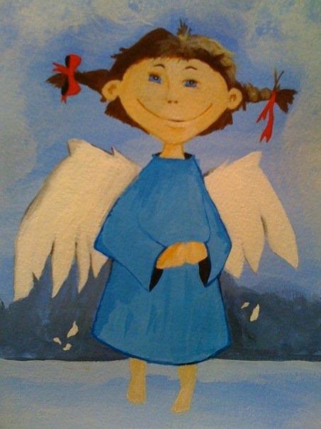 My Angel Painting by Ellie Art