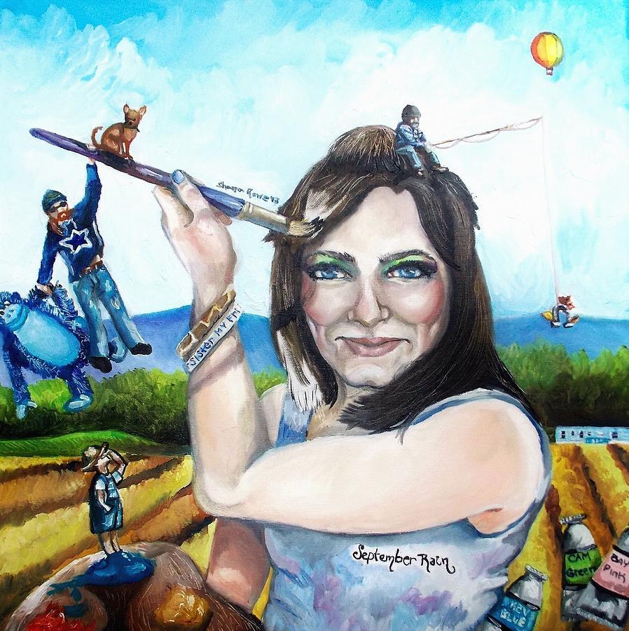 Self Portrait Painting - My Life As A Painter by Shana Rowe Jackson