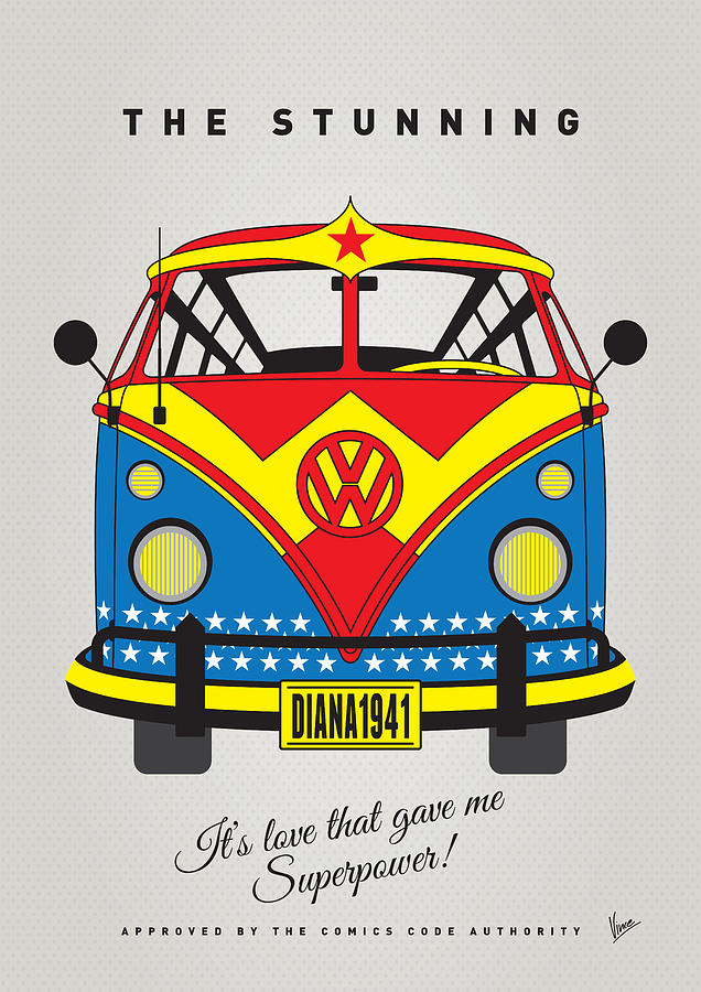 Superheroes Digital Art - My Superhero-vw-t1-wonder Woman by Chungkong Art
