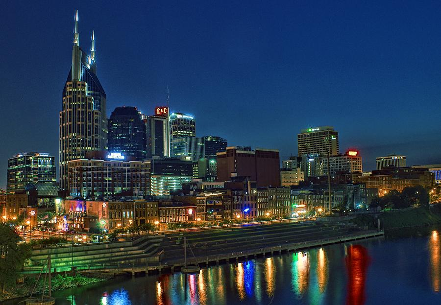Nashville Photograph - Nashville Cityscape by Patrick Collins