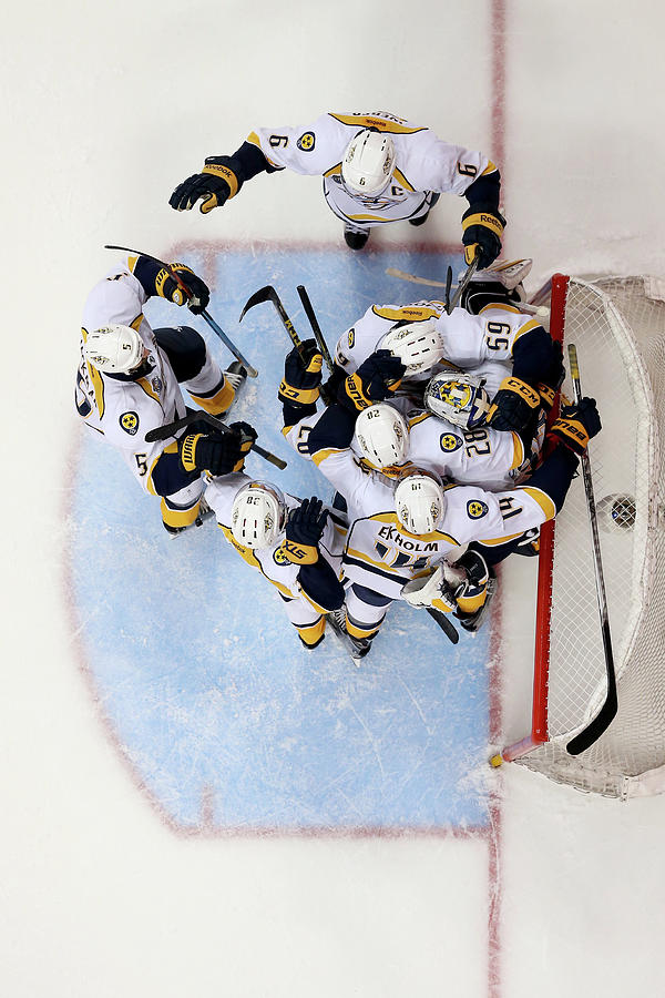 Nashville Predators V Anaheim Ducks - Photograph by Sean M. Haffey