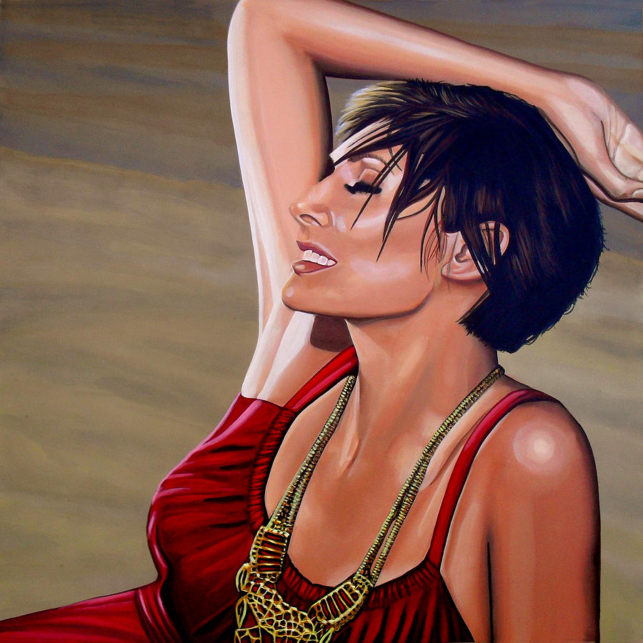 Natalie Imbruglia Painting - Natalie Imbruglia Painting by Paul Meijering