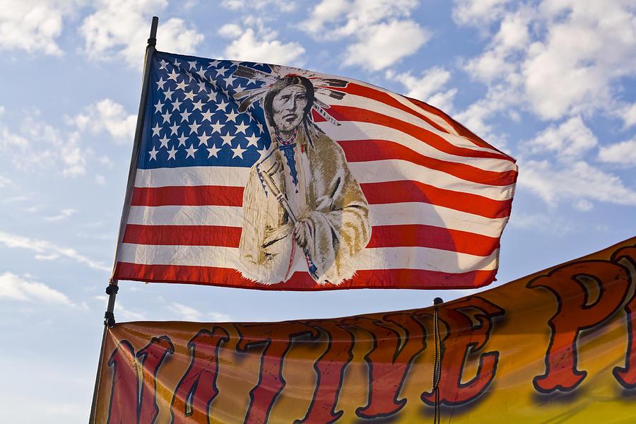 Lovely Framed American Flag Art #1: 2-native-american-flag-terry-thomas.jpg