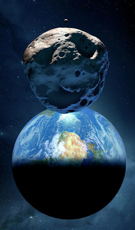 asteroid near earth - 529×900