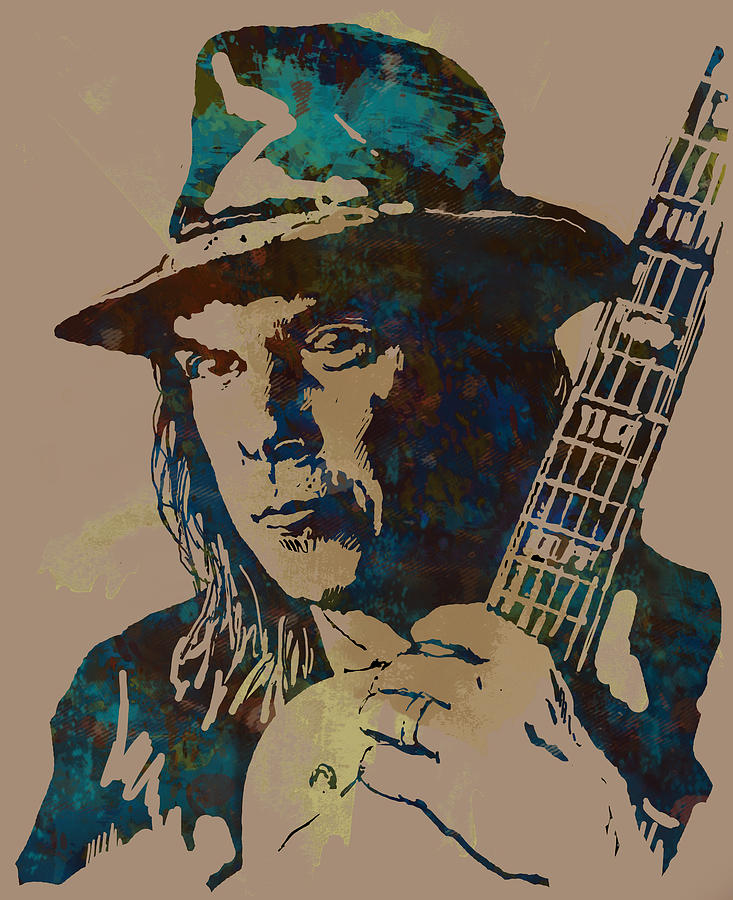 Neil Young Art Drawing Sketch  Drawing - Neil Young Pop Artsketch Portrait Poster by Kim Wang