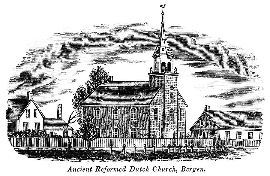 1844 Painting - New Jersey Church, 1844 by Granger