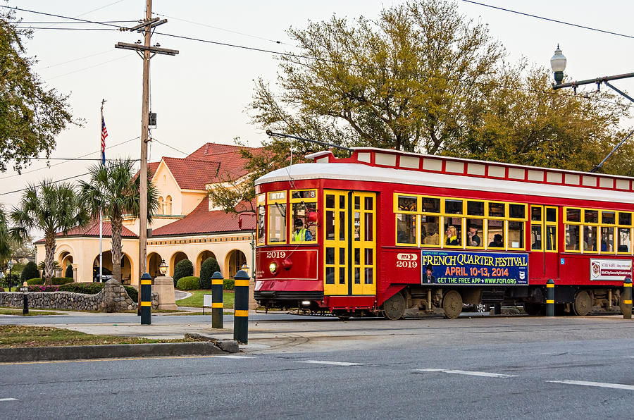 Canal Street Photograph - New Orleans Streetcar by Steve Harrington