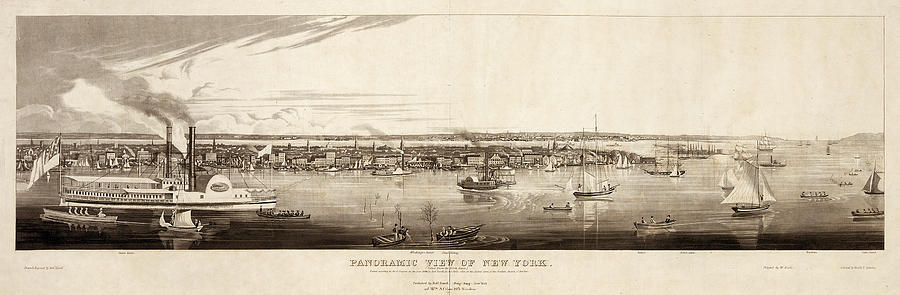 1840 Painting - New York City, 1840 by Granger